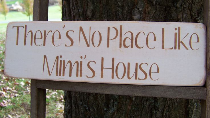 Mimi Distressed Wood Sign There's No Place Like by primsnposies, $12.00