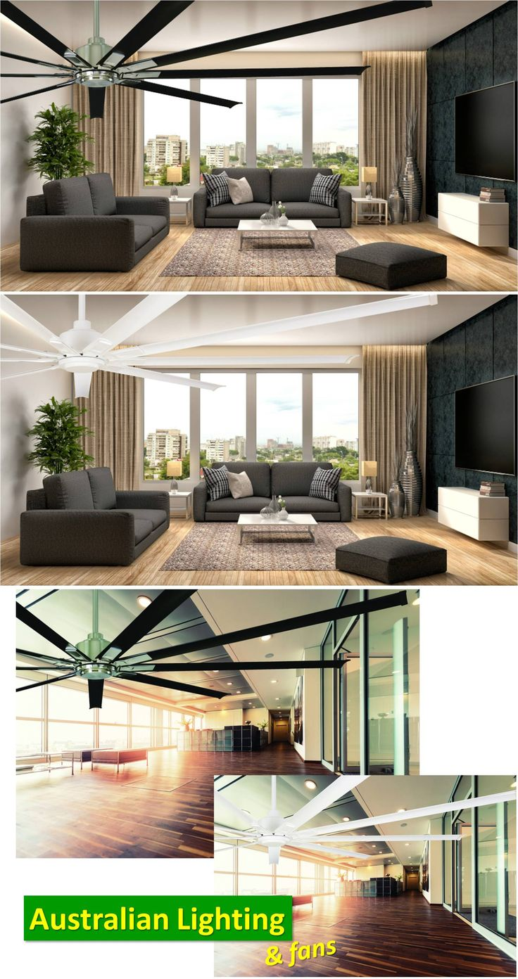 Big spaces need large ceiling fans if you want to get any real sense of air movement and these big fans can take care of that. The Rhino Series is an extra large ceiling fan with the DC technology that makes it one of the most energy efficient in the market.