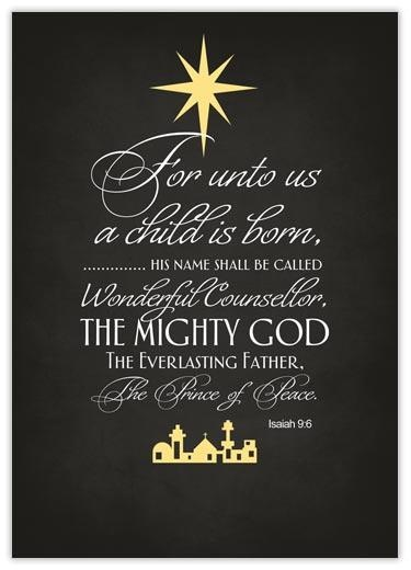 Jesus is the reason for the season... Isaiah 9:6