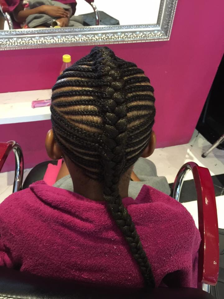 Little girl cornrows ❤️