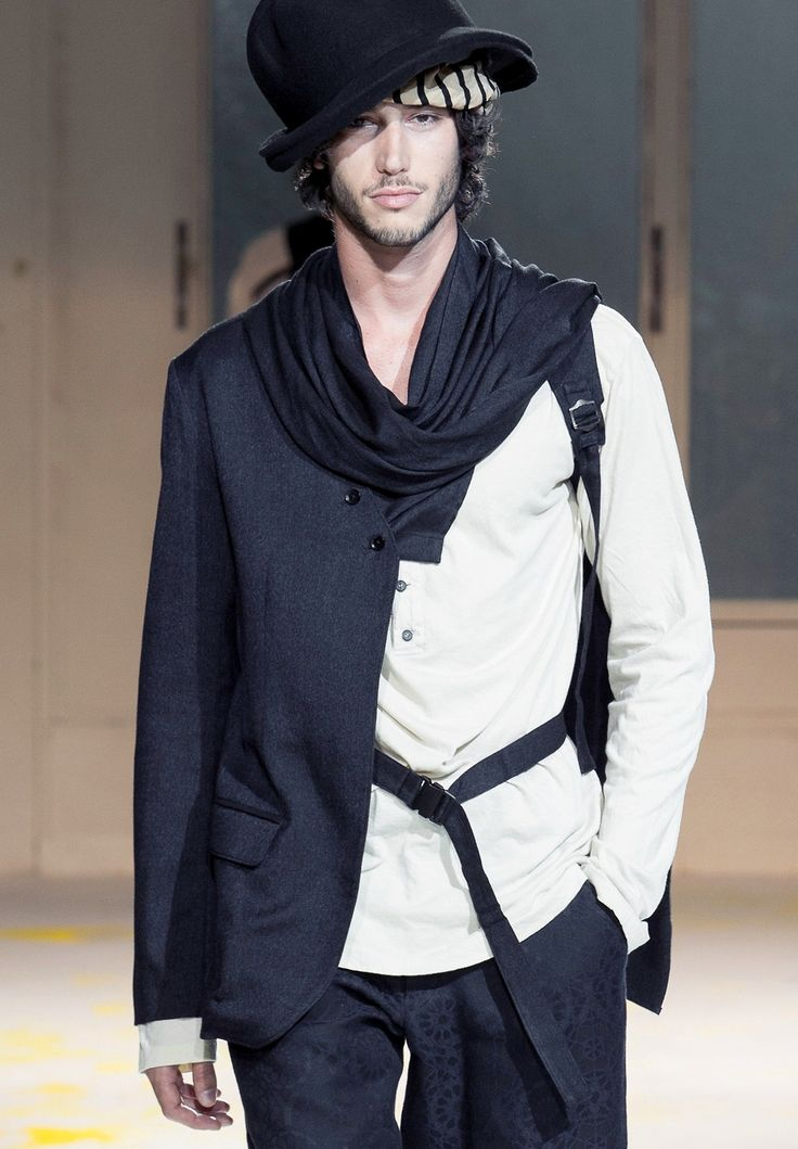 Yohji Yamamoto menswear s/s 2015 - For the schizo boyfriend who can't decide whether to go to the office or have a short walk in the countryside...