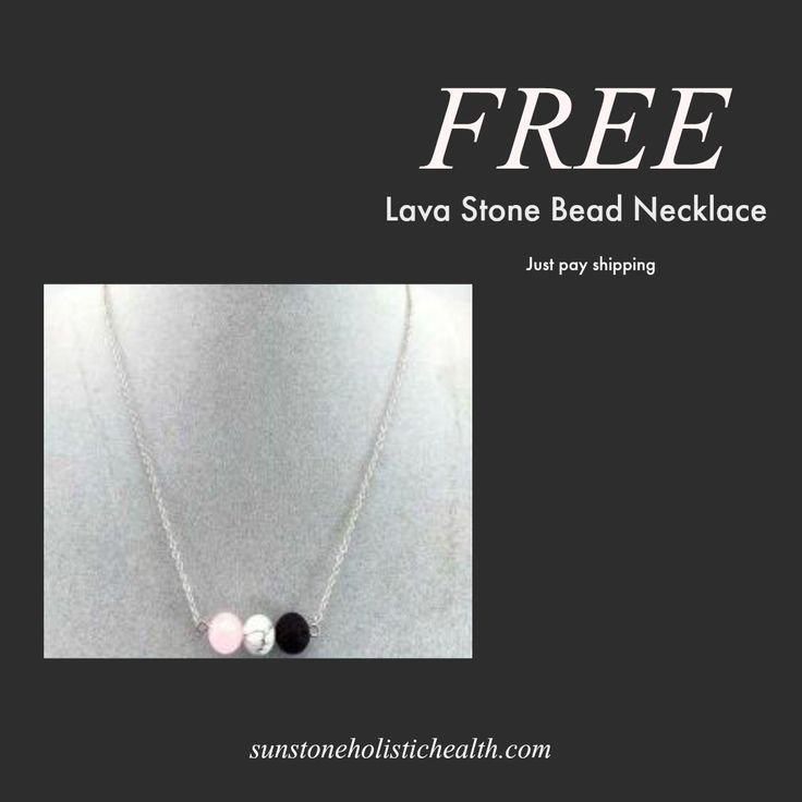 FREE. Lava Stone Bead Necklace. Use for essential oil aromatherapy