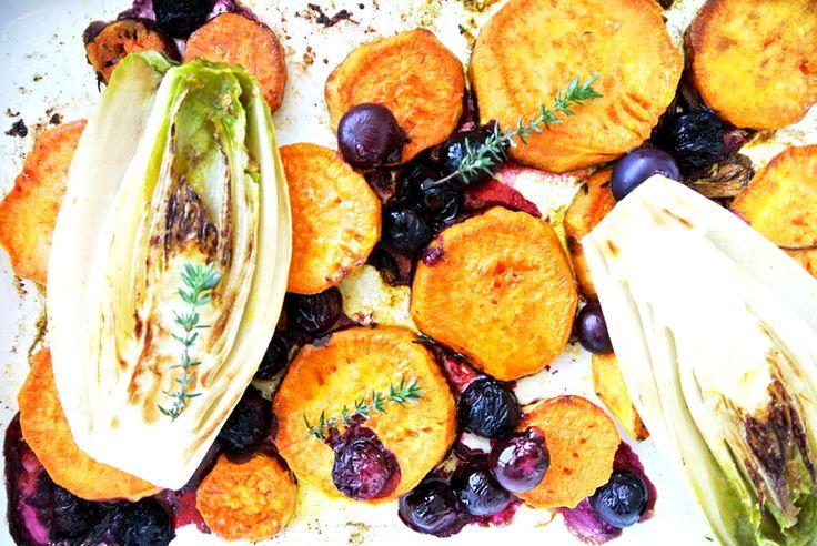 Süßkartoffel mit Chicorée und Beeren - neuensausderküche
