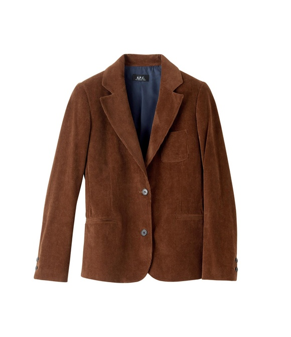 Wide-wale corduroy jacket - Nut brown - A.P.C. WOMEN ...