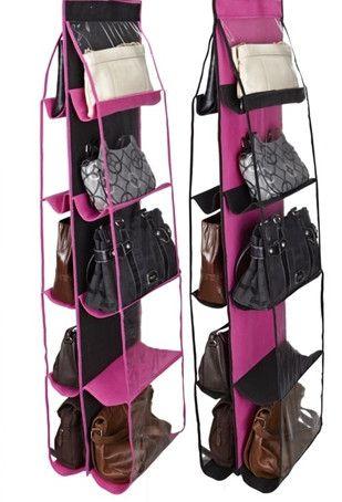 closet organizer purse rack