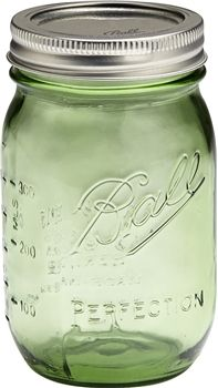 Green Mason Jars - Wholesale Pint Ball Glass Canning Jars! Found then in wedding color!! Super cheep too!
