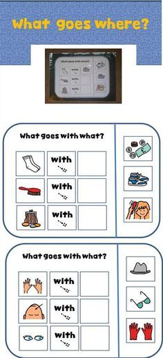 """Where will you find? What go together ?(Vocabulary task book for students with Autism) This Velcro task book will enable students to discover """"what goes together"""" and """"where will you find it"""" questions and practice their vocabulary."""