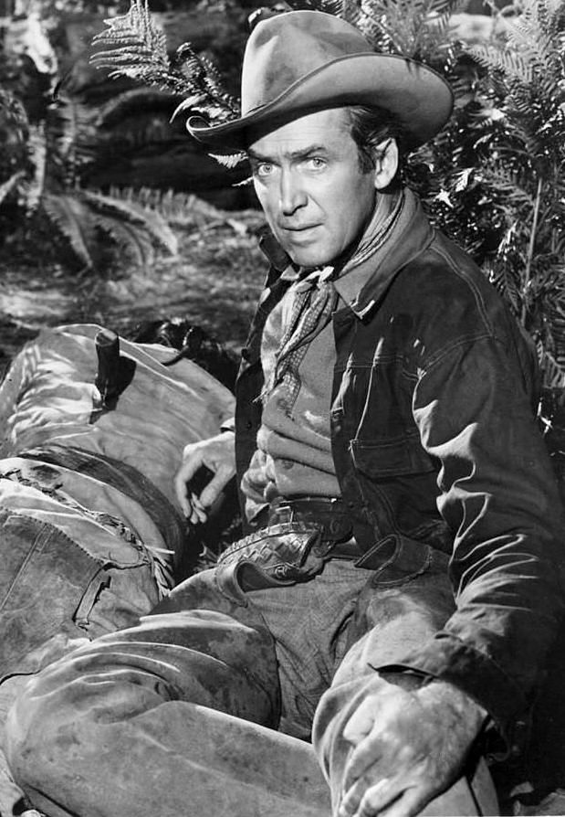 """Jimmy Stewart in """"Bend of the River"""" (1952)"""