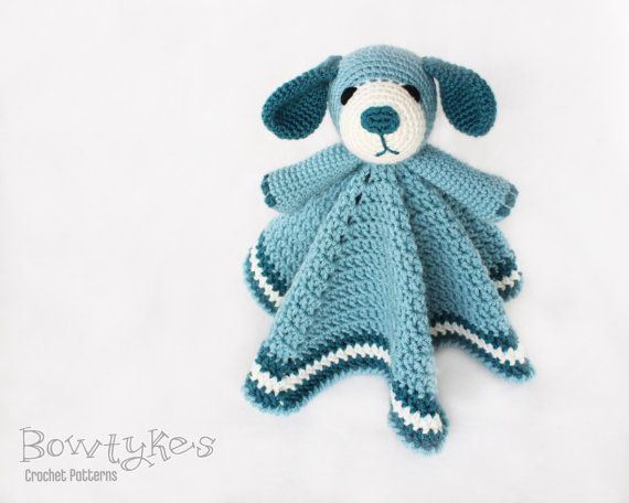 Dog Lovey CROCHET PATTERN instant download blankey por Bowtykes