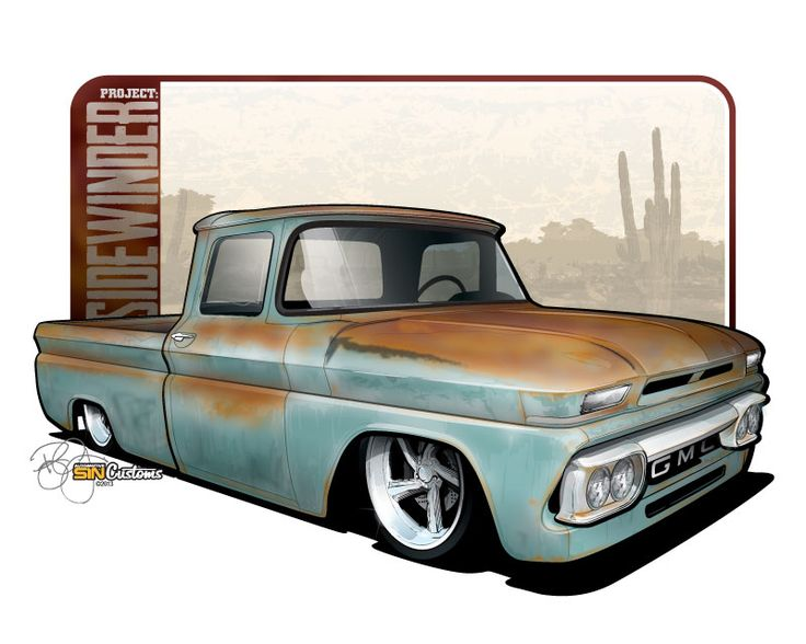 Vehicle rendering and illustration by SIN Customs artist Ryan Curtis - www.SIN-Customs.com  001721_1963-GMC-C10-Color.jpg