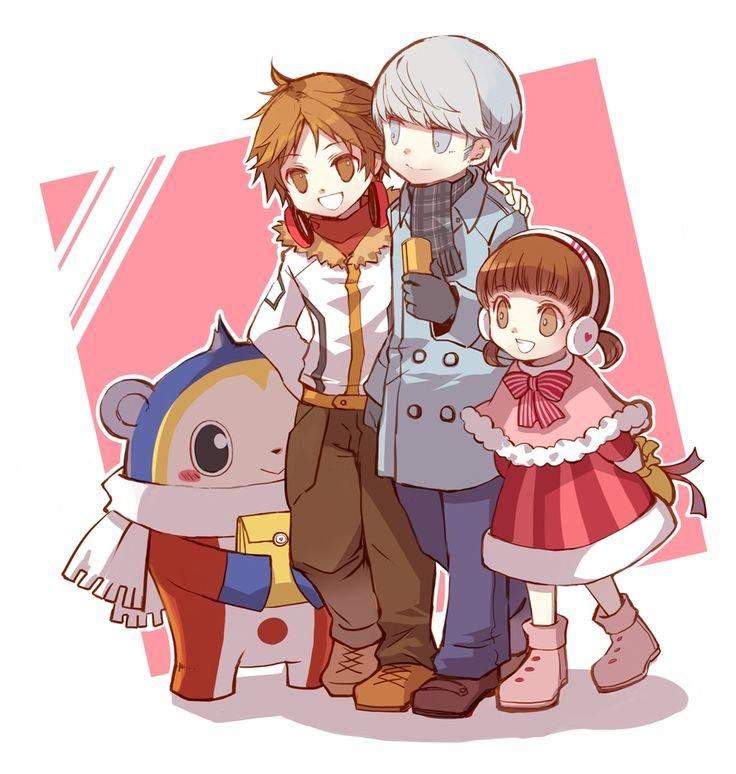 Teddie, Yosuke Hanamura, Yu Narukami, Nanako Dojima, Persona 4