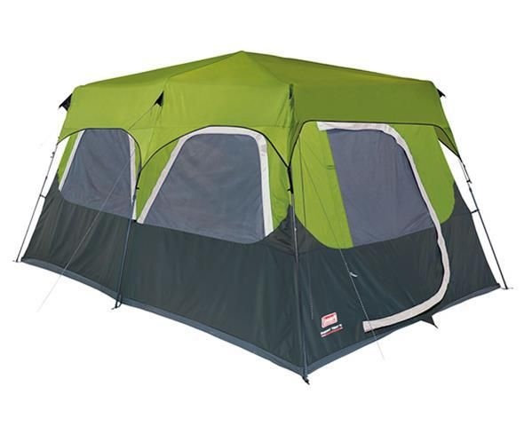Coleman 10 Man Tent - Instant Cabin Fastpitch - GreenThe easiest tent ever with poles pre-attached to the tent. Setup is done is leass than 60 seu2026  sc 1 st  Pinterest & Coleman 10 Man Tent - Instant Cabin Fastpitch - GreenThe easiest ...