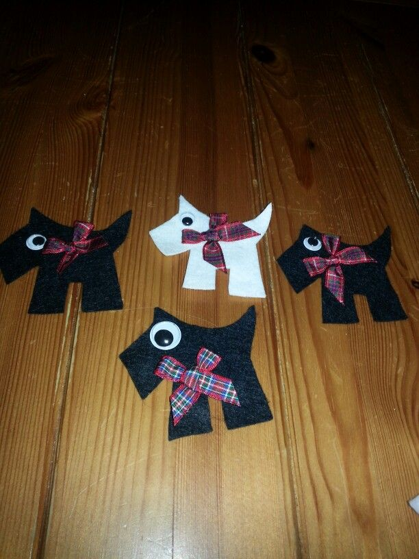 Felt brooches for Scottish day fundraiser.