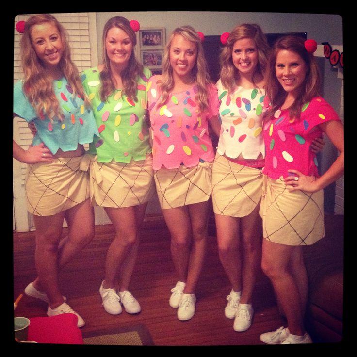 Ice Cream Cones Halloween costume DIY