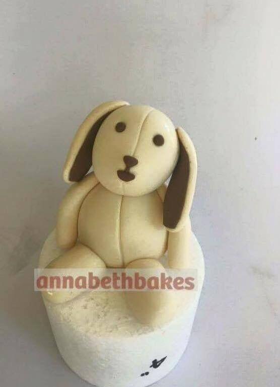 Bear, toy, fondant cake topper - annabethbakes