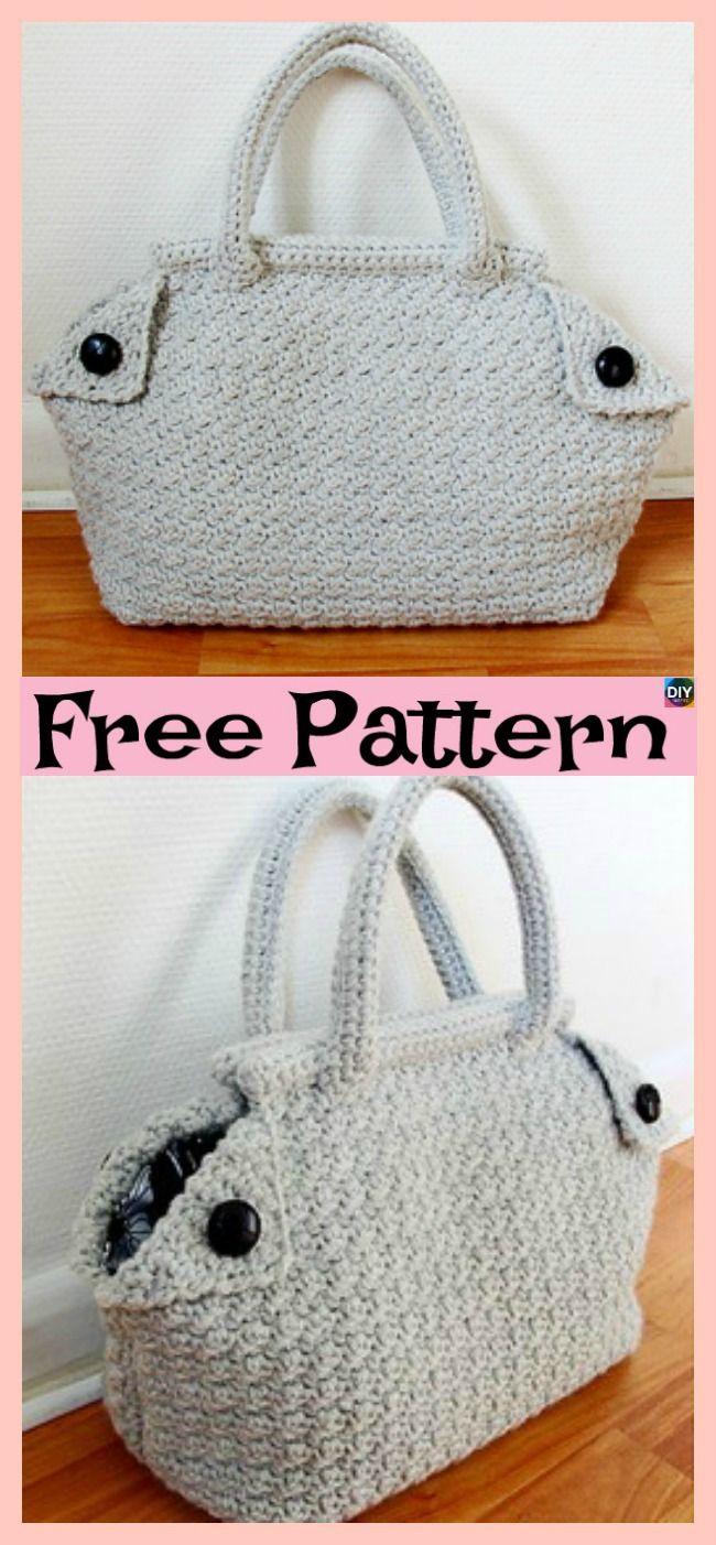 Classic Crochet Derek Bag Free Pattern Crochet Knit Patterns