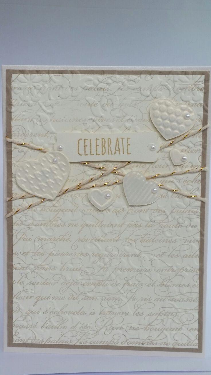 Classic embossed 'Celebrate'