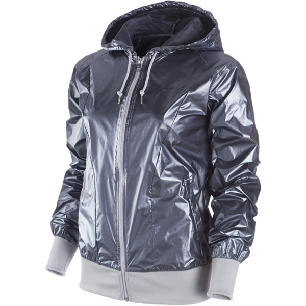 Nike Sprint Metallic Women's Jacket - Metallic Silver. Fun Jacket
