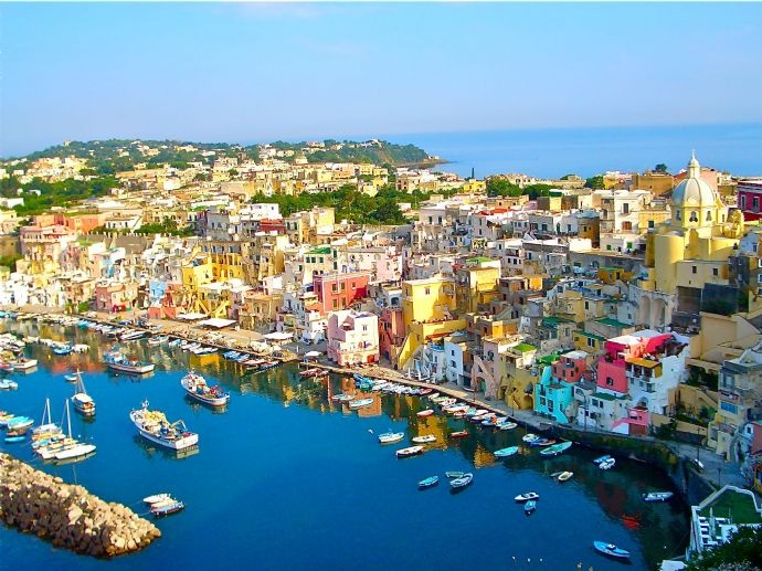 The charming Island of Procida, Gulf of Naples, Italy