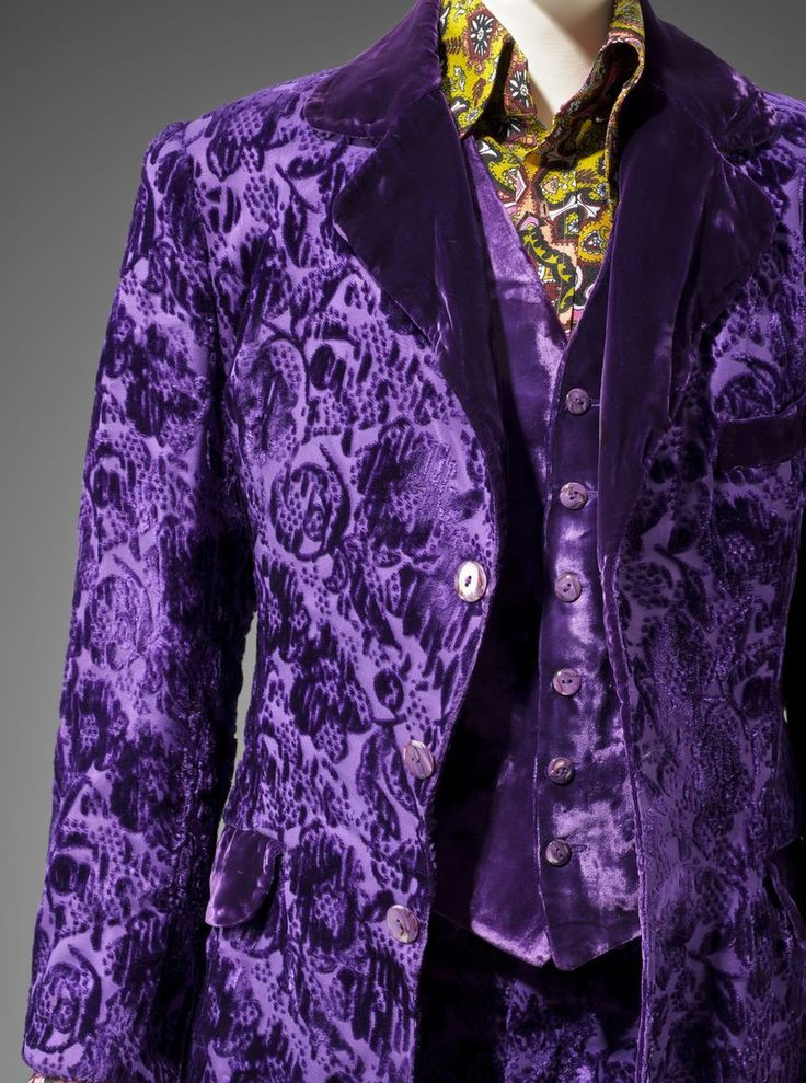 Granny Takes a Trip purple velvet suit #psychedelic #menswear #vintage