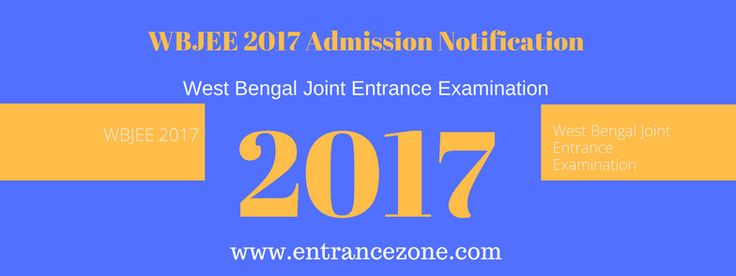 The WBJEE (West Bengal Joint Entrance Examination) is a state level customary way test created by West Bengal Joint Entrance Examinations Board. It is coordinated to screen candidates for affirmations in student outlining, building and medication store programs offered by various colleges and colleges of West Bengal.  And for more visit at http://www.entrancezone.com/engineering/wbjee-2017-admission-notification/