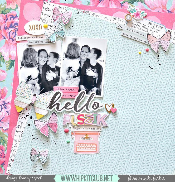 Hello Kisses - Hip Kit Club DT - Scrapbook.com