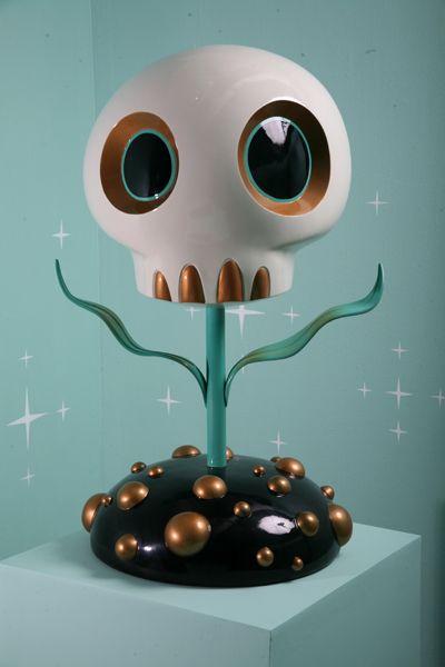 """Skull Flower""(Turquoise) | Artist: Tara McPherson"
