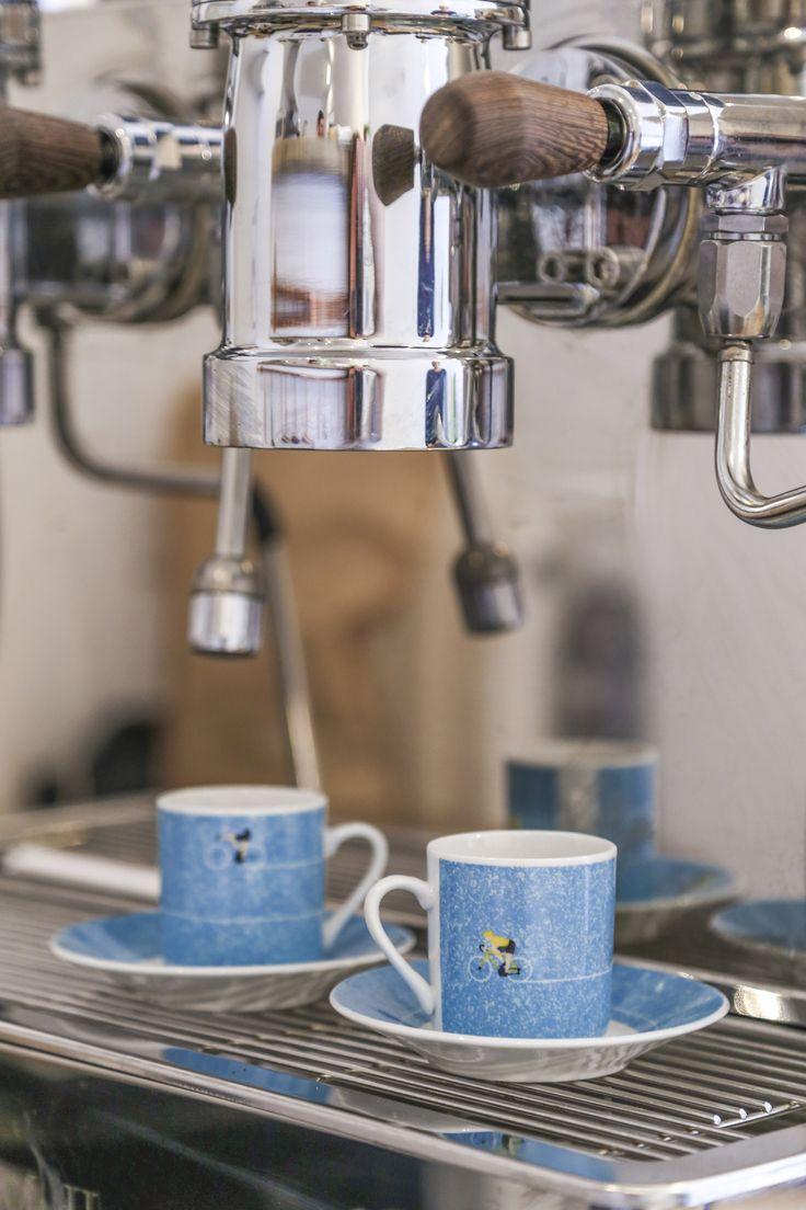 Hrnky na espresso s cyklistickým motivem #dekorace #doplnky #kolo #bicycle #accessories #giftware #hrnek #IWantToRideMyBicycle #mug