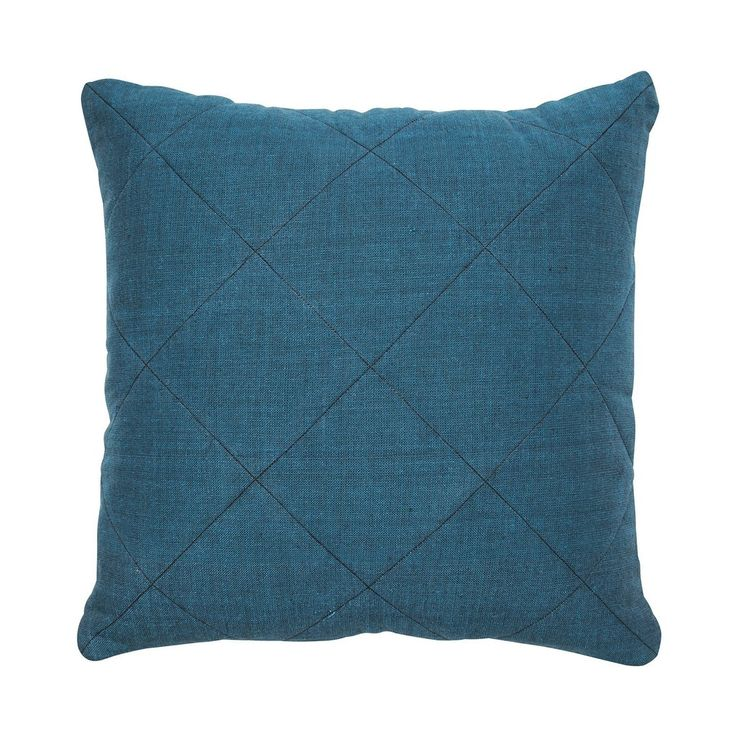 teal khadi quilted