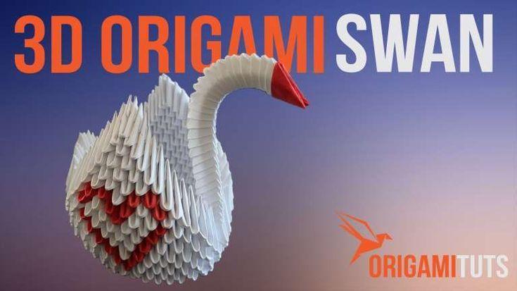 Lovely 3d origami Mini Swan