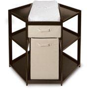 Walmart: Badger Basket Diaper Corner Baby Changing Table with Hamper and Basket, Espresso