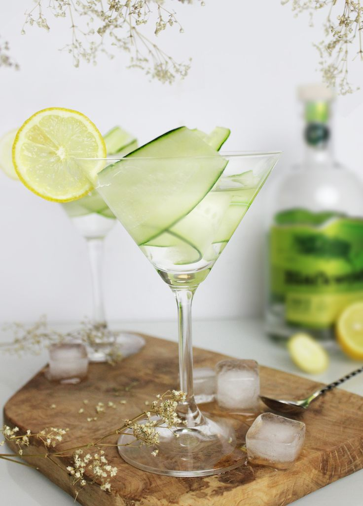 Cucumber Black's Wood dry gin Martini  https://www.instagram.com/thedesignfeeds/
