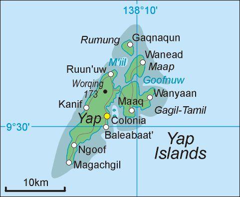 Yap Islands ◆Föderierte Staaten von Mikronesien – Wikipedia http://de.wikipedia.org/wiki/F%C3%B6derierte_Staaten_von_Mikronesien #Micronesia