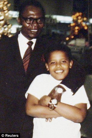 Barack Obama Mother | Family ties: A young Barack Obama seen with his mother Stanley Ann ...