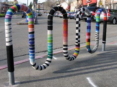 Yarn bombing in California