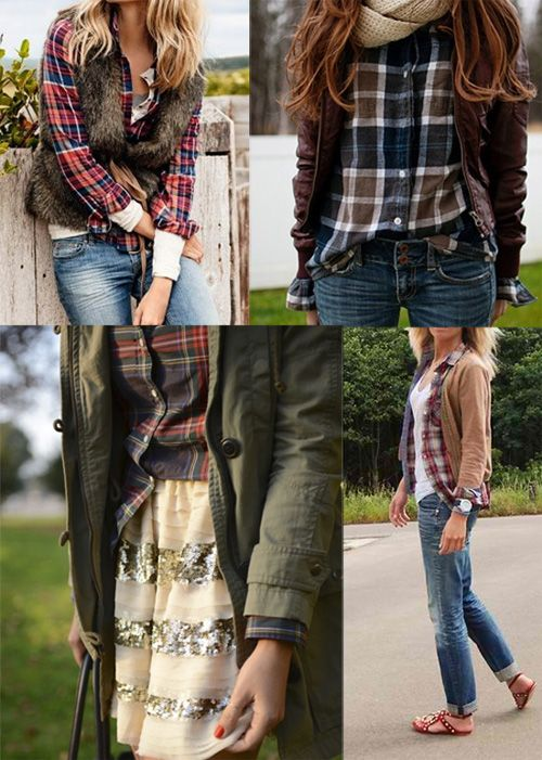 style: boy shirt in plaid for the weekend
