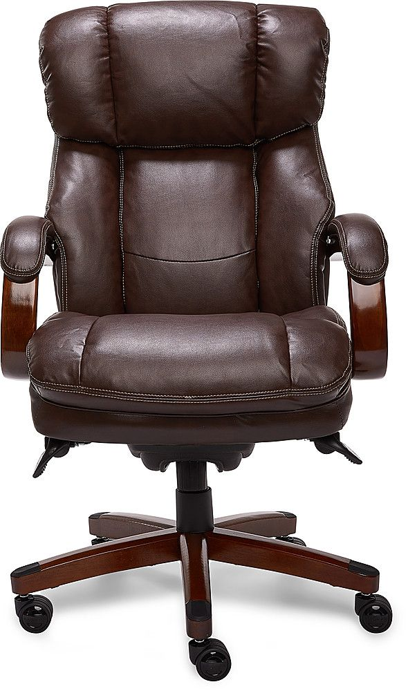 La Z Boy Faye Fabric Manager Chair Chocolate Staples Comfy Office Chair Chair Floor Protectors For Chairs