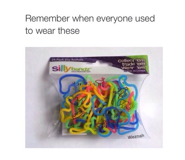I remember I was the first one to have these at my school. I'm such a trendsetter *flips hair*