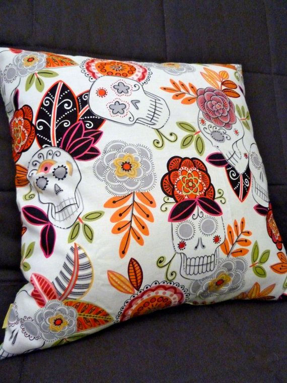 Day of the Dead  Skulls  Halloween  PILLOW by LaurenCreates, $20.00