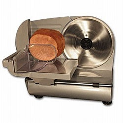 Weston Heavy-duty 9-inch CE-approved Food Slicer  $129.95 @Overstock - Bring a new level of functionality to your kitchen with this professional heavy-duty food slicer from Weston. This nine-inch food slicer is crafted from stainless steel with aluminum housing and can be used to slice meats, cheeses, and more.http://www.overstock.com/Home-Garden/Weston-Heavy-duty-9-inch-CE-approved-Food-Slicer/4131011/product.html?CID=214117 Add to cart to see special price