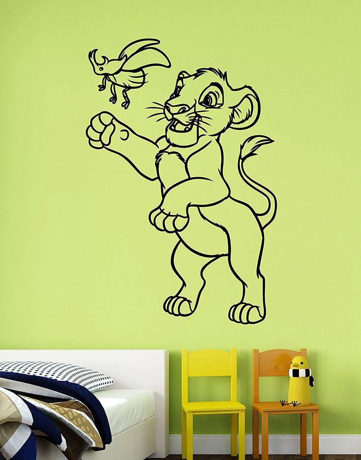 Simba Vinyl Sticker Disney Lion King Wall Decal Cartoon Art Decorations For  Home Kids Baby Boys