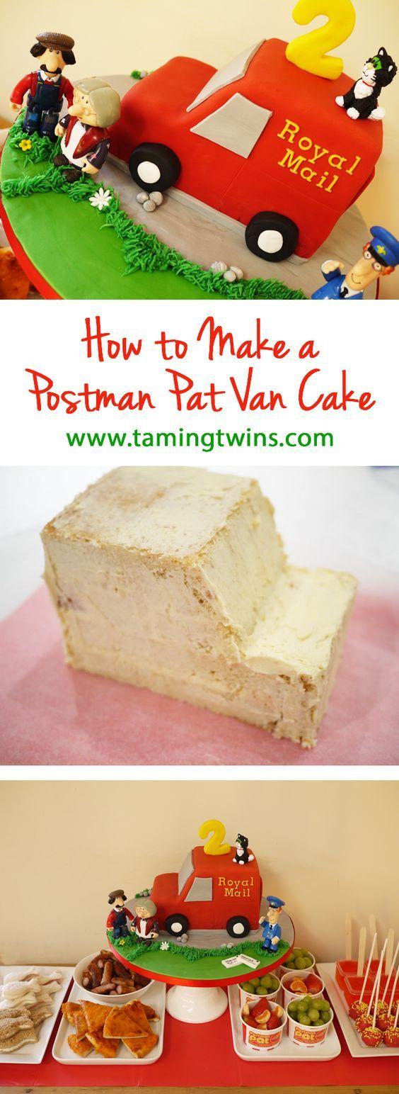 Calling all parents of CBeebies Postman Pat loving toddlers, here's a simple 6-step Postman Pat van cake tutorial.