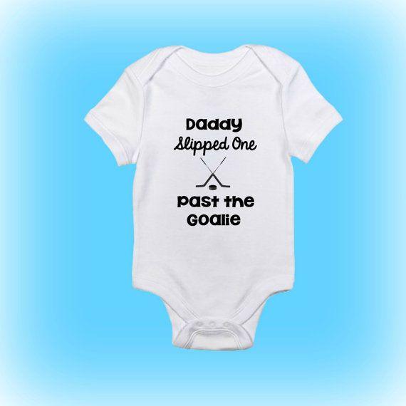 Funny Baby Onesie® Hockey Onesie Gift for by ShowerTimeBabyWear
