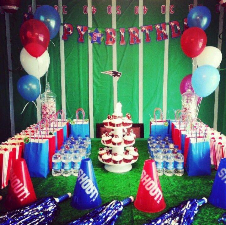 Jenai's football theme birthday party. Patriots all the way!