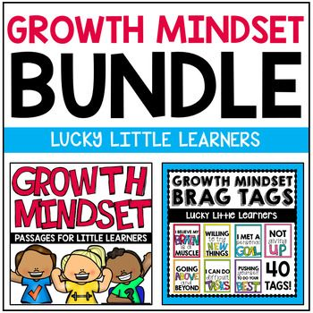 Growth Mindset Bundle (Passages & Brag Tags) Do you want to teach growth mindset in your classroom but not have the resources? Do you want your kids to push themselves to do their best, believe in themselves, accept challenges, and know that mistakes are an opportunity to learn? These growth mindset passages and brag tags can help achieve this in your classroom!