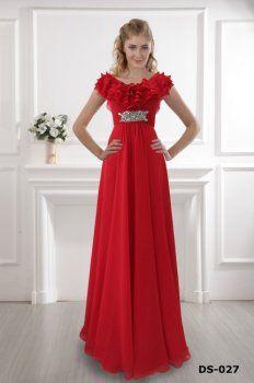 La robe rouge épaule 2012 robe rouge robe de sol, une ligne