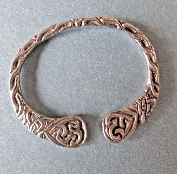 Sterling Silver Hallmarked Knotwork Celtic Scarf Ring Vintage Celtic Jewelry