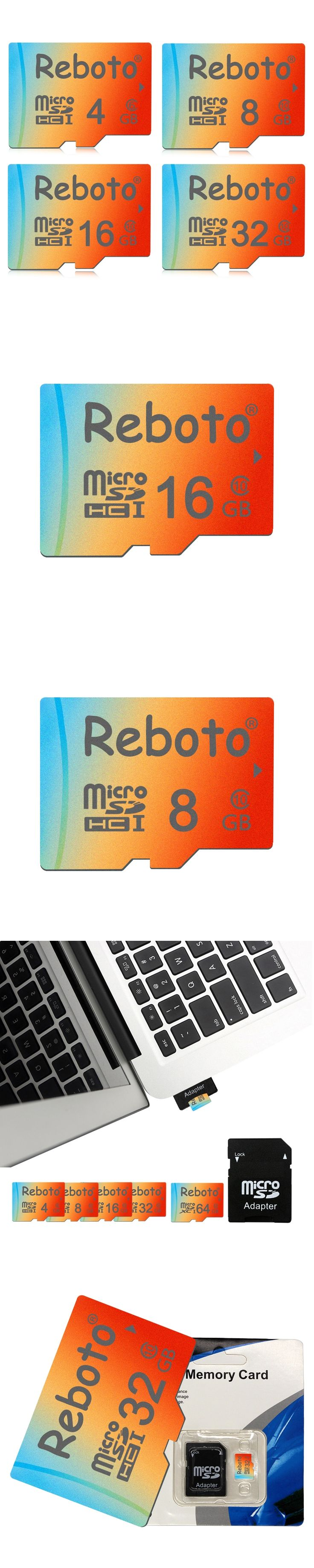 TOP Sale Orange Memory Cards 4gb 8gb 16gb 32gb 64gb Reboto Micro sd TF card Micro SD Card with free Adapter for Mobile Phone