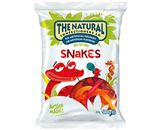 A box of 12 bags of The Natural Confectionery Company Jelly Snakes Lollies.