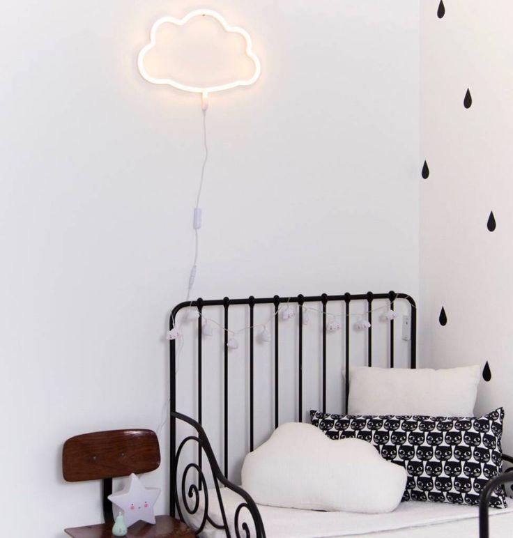 A Little Lovely Company neon stijl lamp: wolk